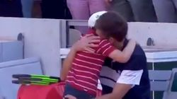 El emocionante gesto del hijo del tenista Mahut cuando pierde en el Roland