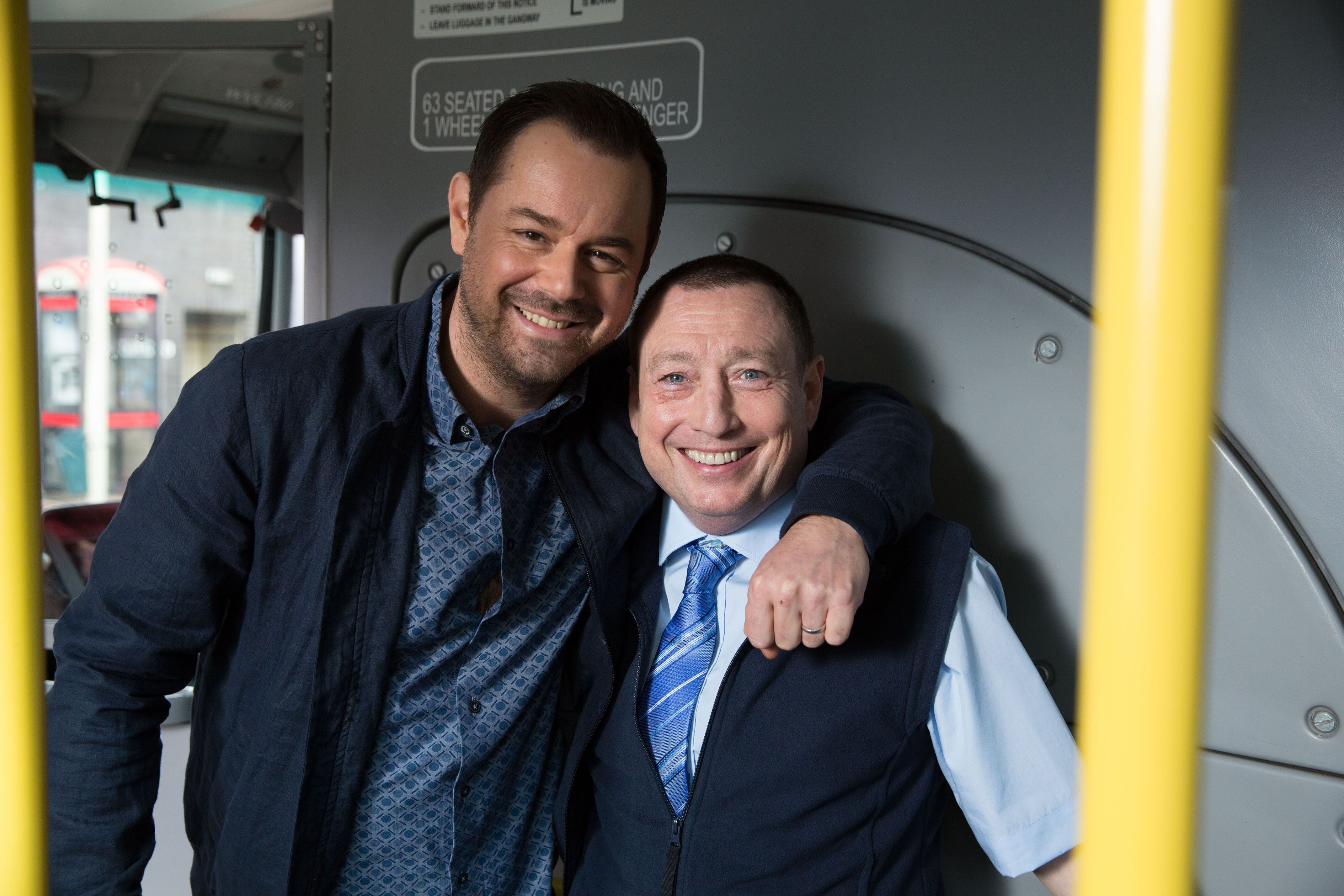 'Grange Hill' star Lee MacDonald appears opposite Danny Dyer in 'EastEnders' (Credit: BBC)
