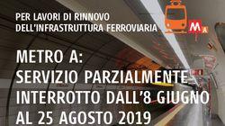 Quest'estate per prendere la Metro A a Roma bisognerà consultare tutti i giorni il