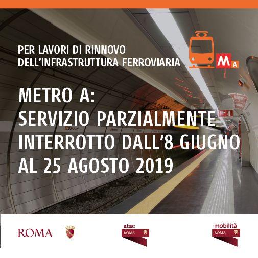 La Metro A di Roma sarà a servizio ridotto per tutta