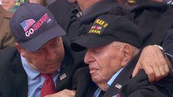 L'histoire touchante de ce vétéran assis derrière Trump pendant les commémorations du