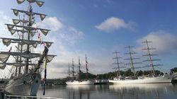 Les images des plus beaux voiliers du monde réunis à Rouen pour