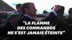 La transmission émouvante d'un béret vert, du vétéran Léon Gautier à un jeune