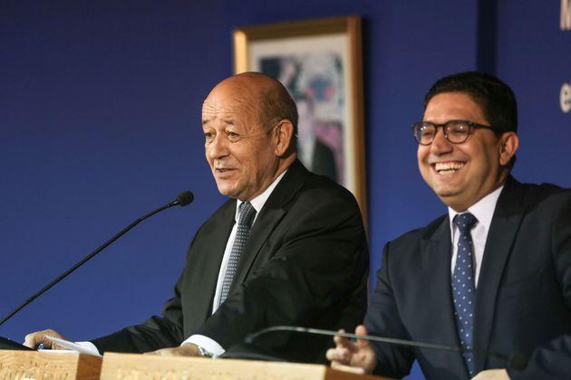 Le ministre français des Affaires étrangères Jean-Yves Le Drian au Maroc ce