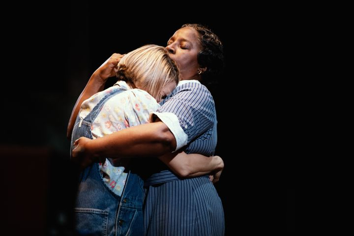 "Celia Keenan-Bolger as Scout Finch and LaTanya Richardson as Calpurnia in ""To Kill a Mockingbird."""
