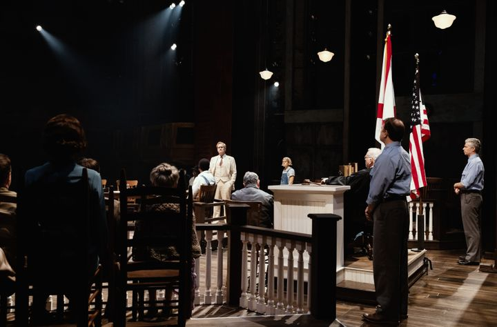 "One of the many courtroom scenes in ""To Kill a Mockingbird."""