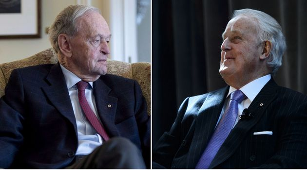 Former prime minister Brian Mulroney (right) says his ex-PM Jean Chretien should lead a delegation to...