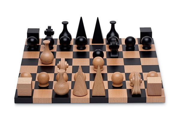 "Wow your chess-obsessed friends with a board and chess pieces designed by Dada extraordinaire, Man Ray.  <strong><a href=""htt"