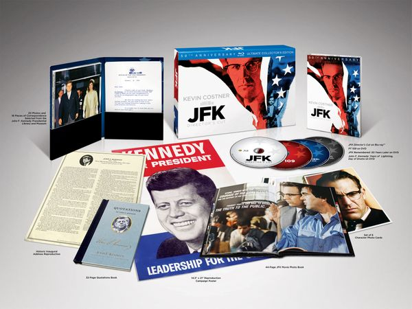 The new Blu-ray release of Oliver Stone's controversial drama about the assassination of JFK gets an update just in time for
