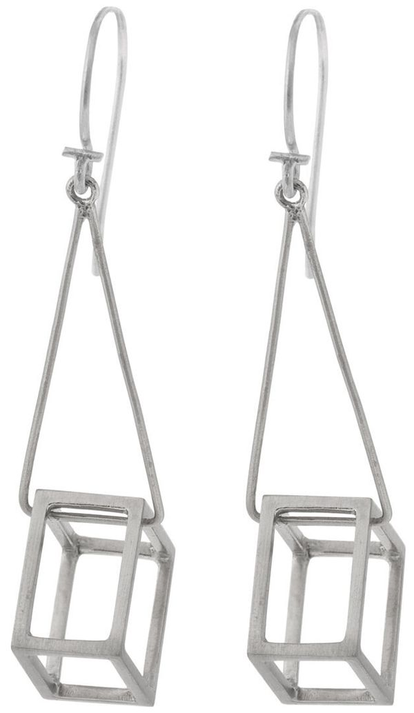 Wear jewelry, art, geometry and architecture all at once with these cube drop earrings by Pico. Compliments guaranteed.  <str