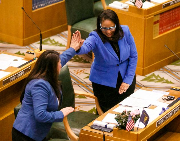 Rep. Janelle Bynum, right, was one of three co-sponsors of the bill. She dealt with a racially charged...