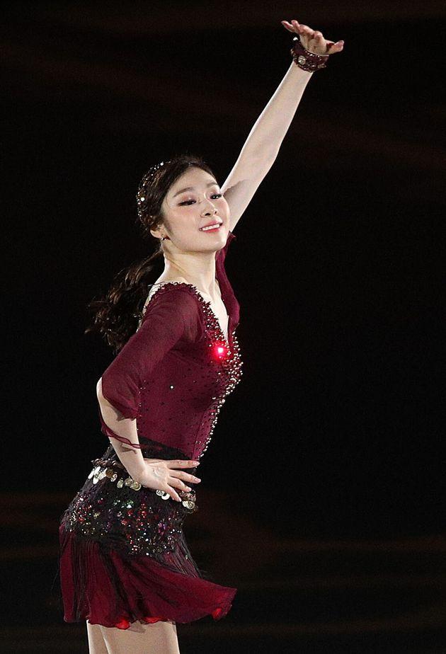 김연아가 5년 만에 정식 아이스쇼 무대에 섰다(사진