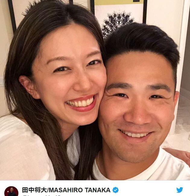 田中将大さんと里田まいさん夫妻