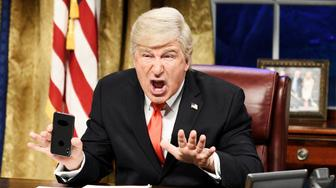 "SATURDAY NIGHT LIVE -- ""Sandra Oh"" Episode 1762 -- Pictured: Alec Baldwin as Donald Trump during the ""Mueller Report"" Cold Open on Saturday, March 30, 2019 -- (Photo by: Will Heath/NBC/NBCU Photo Bank via Getty Images)"