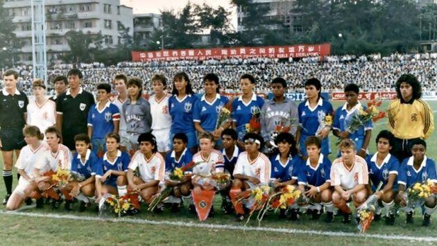 O Estádio Foshan, na China, foi palco para a Copa do Mundo de Futebol Feminino Experimental da...