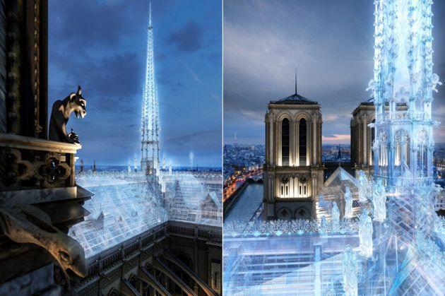ほぼアップルストア…?アップルストアのデザイナーがノートルダム大聖堂の再建案を提案