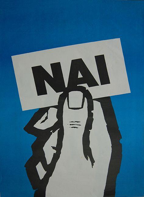 Αφίσα υπέρ του ΝΑΙ στο δημοψήφισμα της χούντας (1973). Η σύνθεση αυτή τυπώθηκε σε τρεις διαφορετικές...