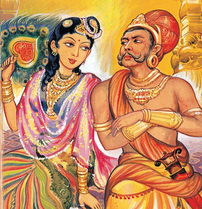 One of the paintings in 'Ponniyin Selvan' by Maniam.