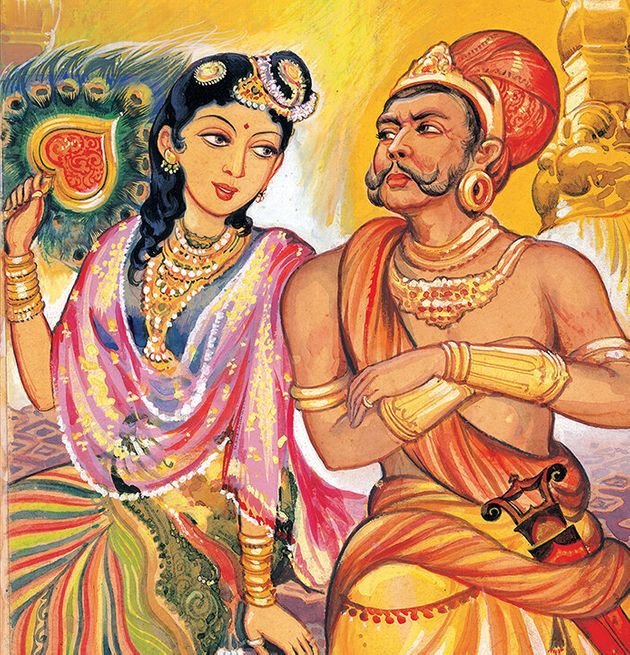 One of the paintings in 'Ponniyin Selvan' by