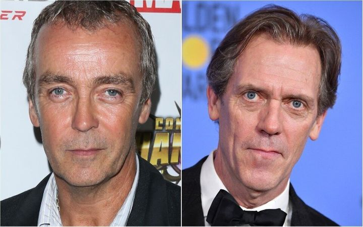 John Hannah, left, said he is often confused for Hugh Laurie, right.
