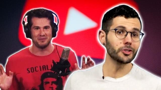 YouTube decided that Steven Crowder (left) had not violated its policies with his targeted, homophobic harassment of Carlos M
