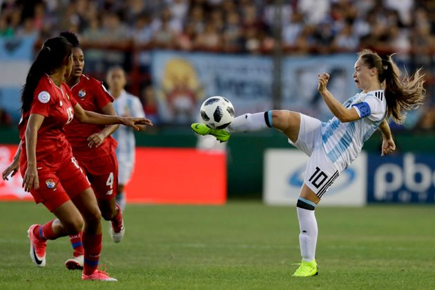 Estefanía Banini (right) will lead Argentina in its first Women's World Cup appearance since