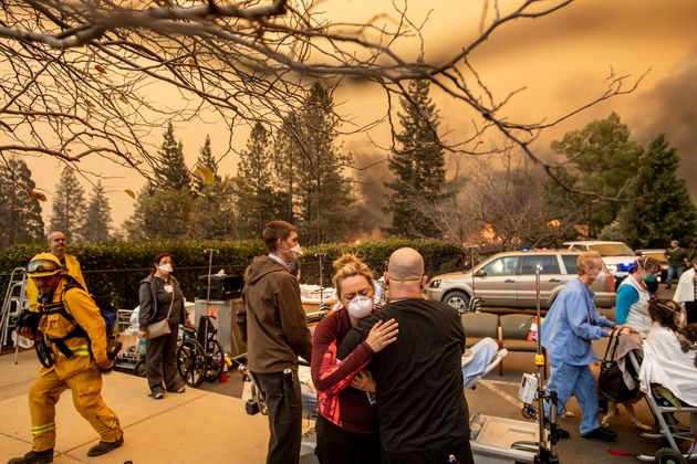 Nurses work during the devastating Camp fire that blazed in California last