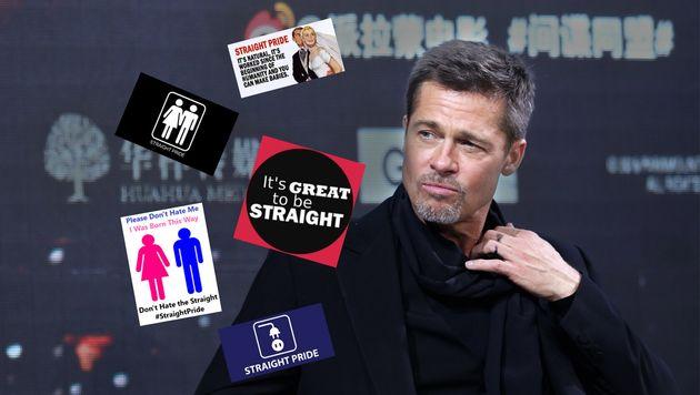 "La ""Straight Pride"" à Boston a énervé Brad Pitt"