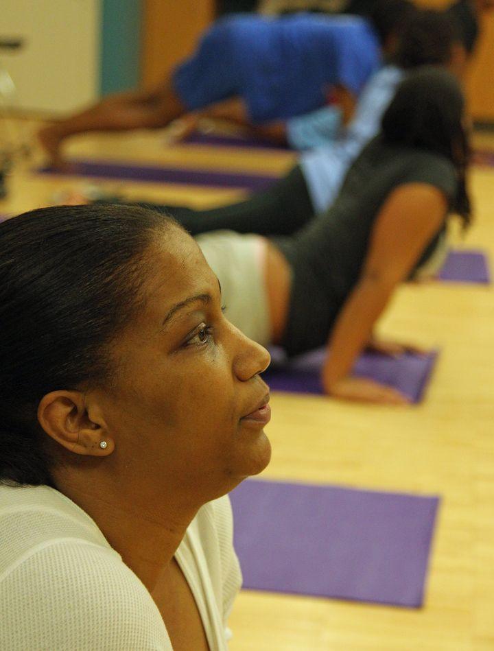 A YFDS yoga class.