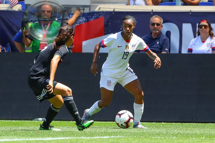Crystal Dunn typically plays as an attacker for her club, but her versatility and the American team's depth upfront mean she