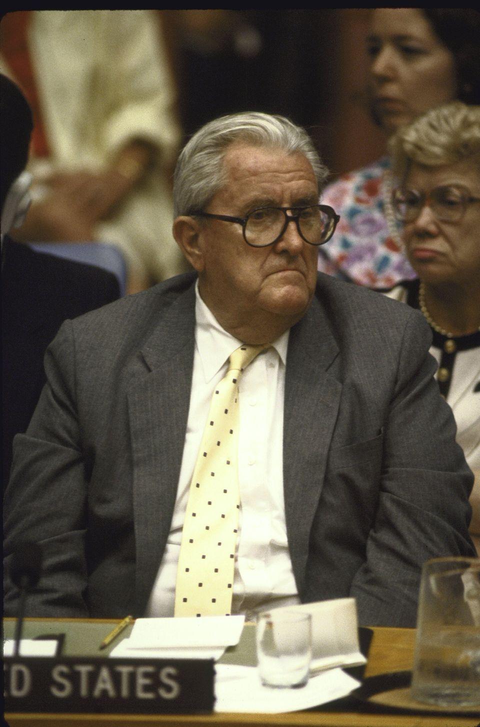 Vernon Walters, ambassadeur des États-Unis à l'ONU de 1985 à