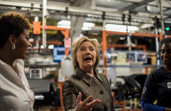 Hillary Clinton's 2016 campaign also included a Detroit speech on manufacturing. But her focus on policy wasn't enough to del