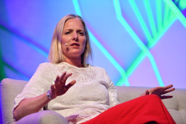 Minister of Environment and Climate Change Catherine McKenna speaking at Enercare Center in Toronto,...