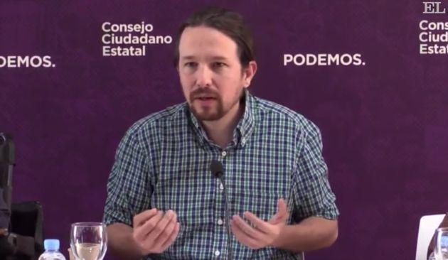 Pablo Iglesias ante el Consejo Ciudadano