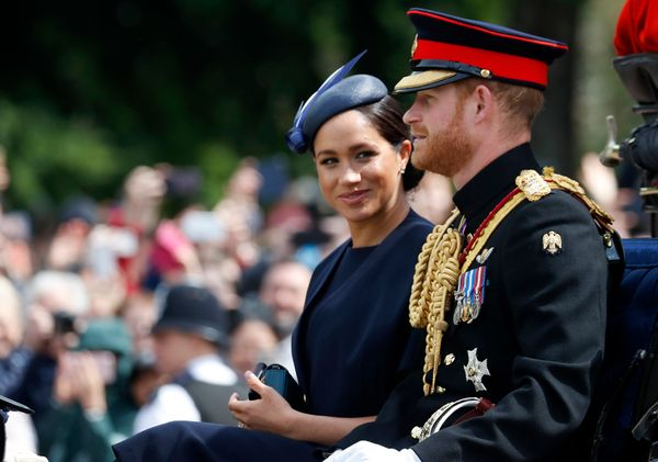 The Duke and Duchess of Sussex rode together in a horse-drawn carriage to the celebration.