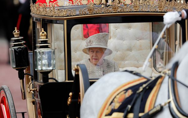 Queen Elizabeth II rode in a carriage to attend the annual Trooping the Colour ceremony.