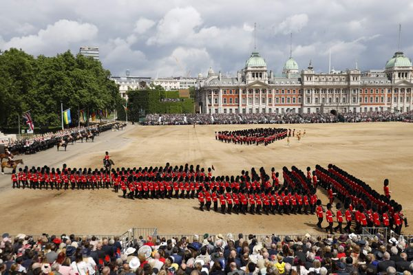 Trooping the Colour, pictured from above.