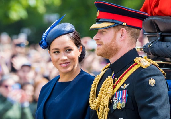 The Duke and Duchess of Sussex attended the Trooping the Colour ceremony in London on Saturday.