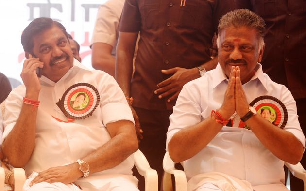 Tamil Nadu Chief Minister Edappadi Palaniswami and Deputy CM O Panneerselvam in a file