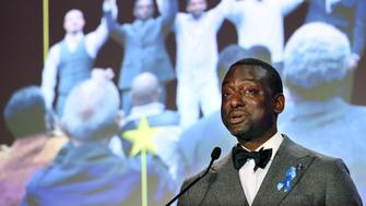 Honoree Yusef Salaam, one of five Harlem teenagers who was wrongly convicted of assaulting and raping a female jogger in New York City's Central Park in 1989, addresses the audience at the ACLU SoCal's 25th Annual Luncheon at the JW Marriott at LA Live, Friday, June 7, 2019, in Los Angeles. (Photo by Chris Pizzello/Invision/AP)