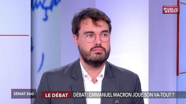 Martin Bohmert, délégué général des Jeunes avec Macron (ici le 14...