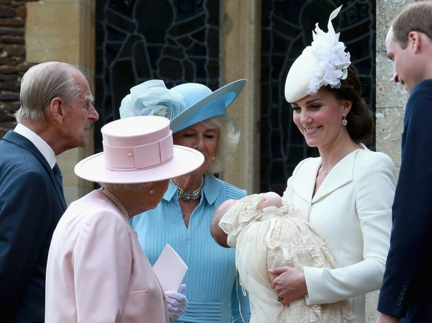 The christening of Princess Charlotte of Cambridge on July 5, 2015 in King's Lynn,