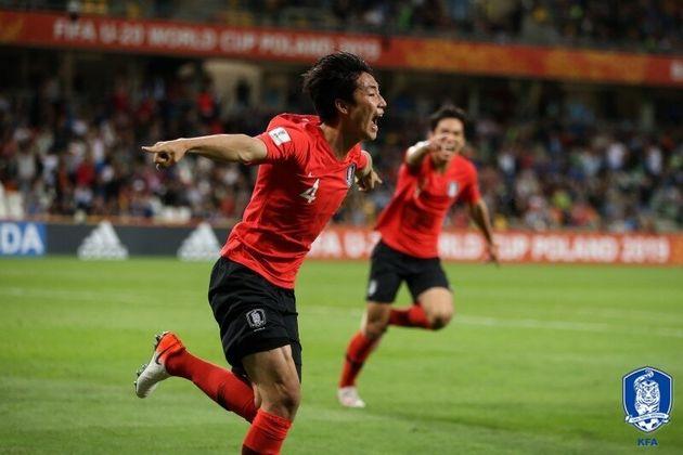U-20 대표팀 세네갈전 승리 직후 관중석은 환호성으로 가득