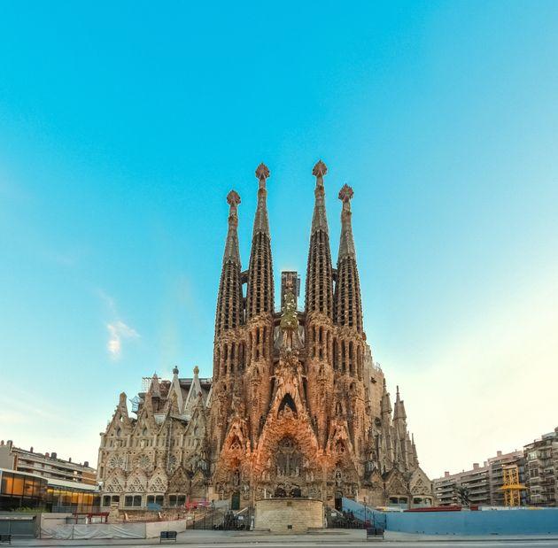 スペイン・バルセロナにあるサグラダ・ファミリア教会
