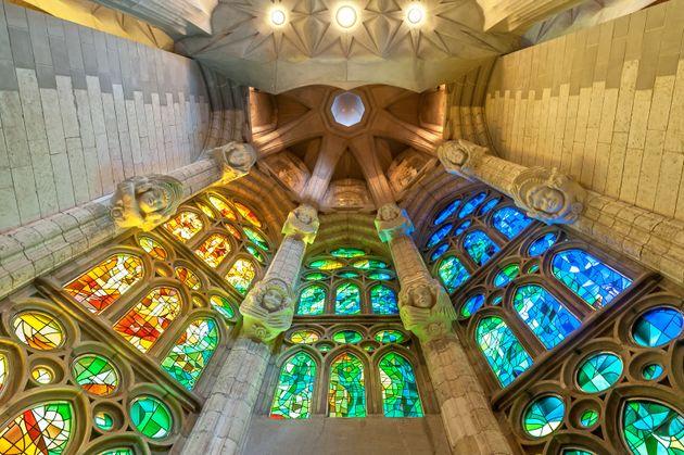 サグラダ・ファミリア教会の内部