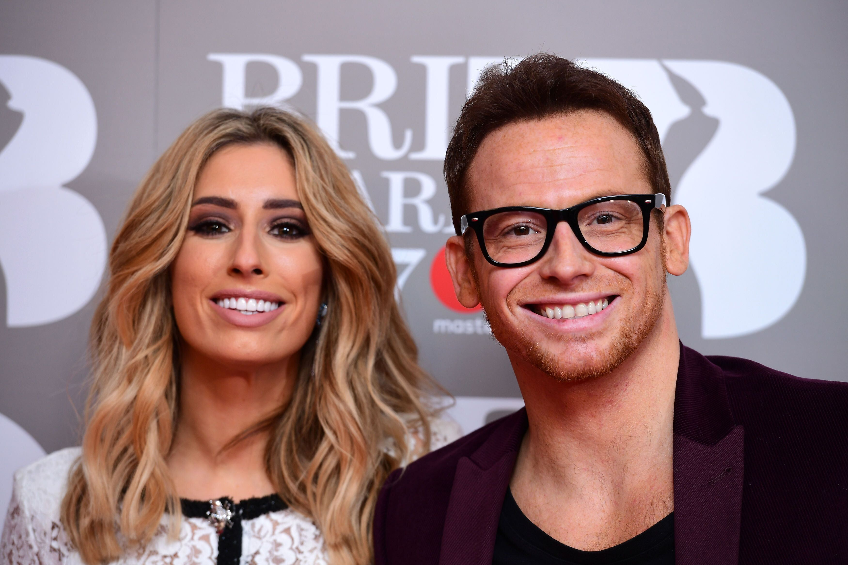 Stacey Solomon and Joe Swash attending the Brit Awards at the O2 Arena, London. (Photo by Ian West/PA Images via Getty Images)