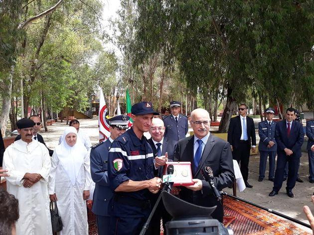 Le jeune pompier A. Sahnoun récompensé par l'Organisation mondiale de la Protection