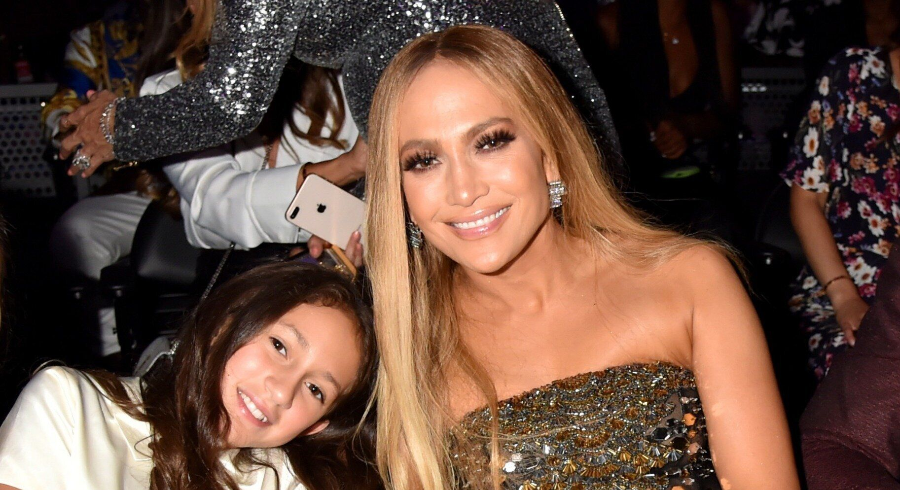 Jennifer Lopez was joined by 11-year-old daughter Emme on stage for a duet [Image: Getty]
