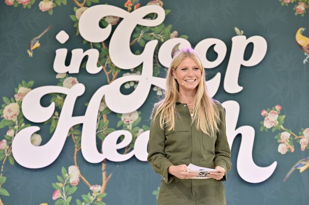 Gwyneth Paltrow speaks onstage at the In Goop Health Summit in Los Angeles on May
