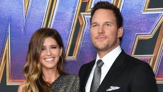"US actor Chris Pratt and US author Katherine Schwarzenegger arrive for the World premiere of Marvel Studios' ""Avengers: Endgame"" at the Los Angeles Convention Center on April 22, 2019 in Los Angeles. (Photo by VALERIE MACON / AFP)        (Photo credit should read VALERIE MACON/AFP/Getty Images)"